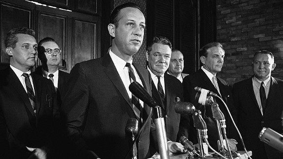 Pete Rozelle in New Orleans in 1967