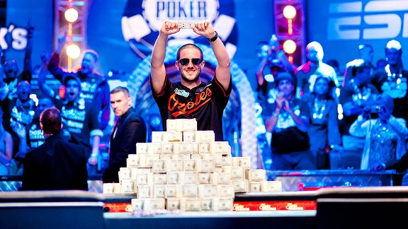 Joe Giron/WSOP Greg Merson won both the 2012 WSOP main event and