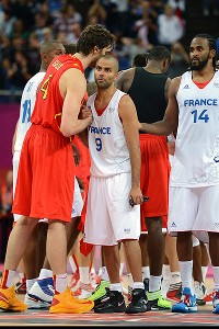 Pau Gasol and Tony Parker