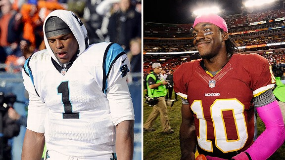 Cam Newton and Robert Griffin III