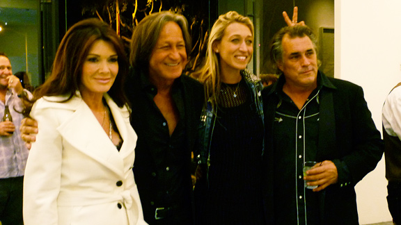 Real Housewife Lisa Vanderpump, Hadid Gallery owner and his daughter with Steve Olson.