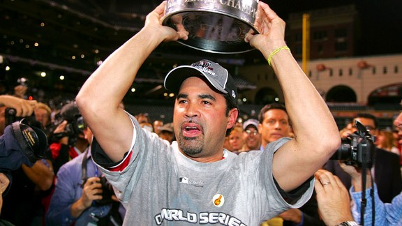Ozzie Guillen winning the 2005 World Series with the Chicago White Sox