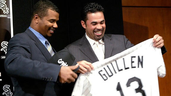 Ozzie Guillen being hired by the Chicago White Sox