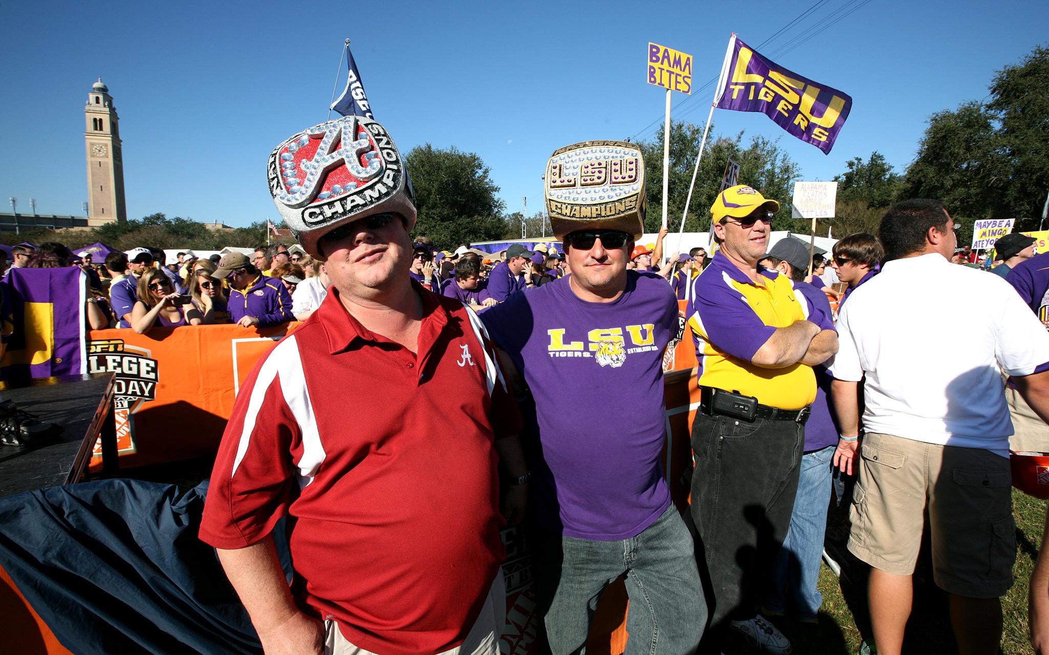 Alabama and LSU Fans
