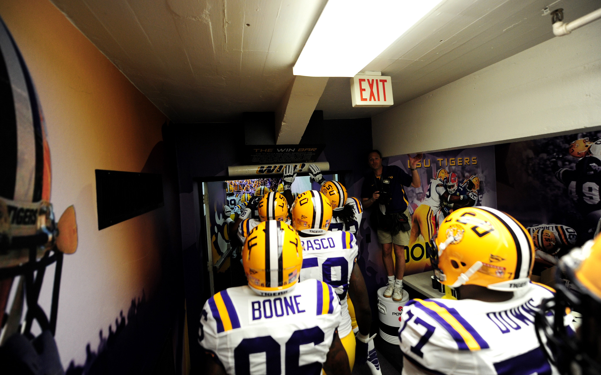 LSU Walking out