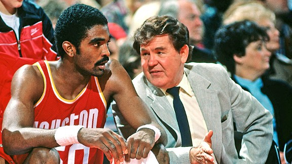 Ralph Sampson and Bill Fitch with the Houston Rockets