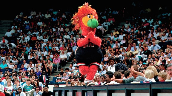 Miami Heat mascot Burnie in 1988
