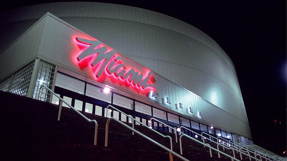 Miami Arena in 1988 before the franchise's first game