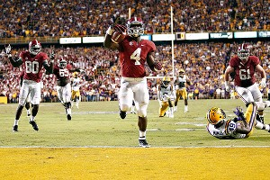 8935a6d0984 Crystal LoGiudice/US Presswire A stunned silence swept across Death Valley  Saturday night as T.J. Yeldon's 28-yard touchdown sent Alabama past LSU.