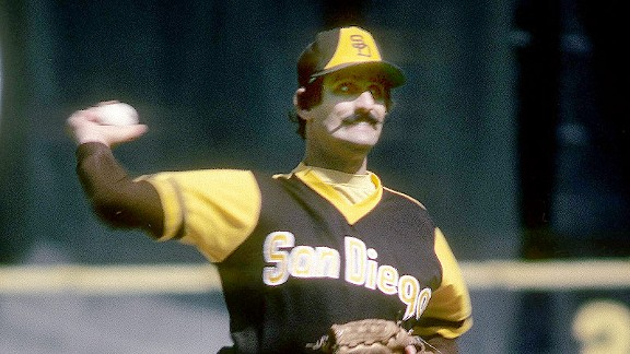 Rollie Fingers with the San Diego Padres