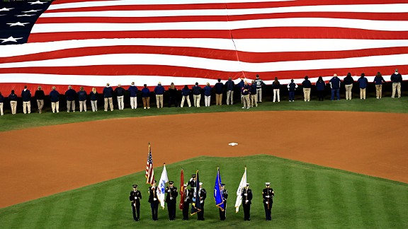 American Flag at World Series
