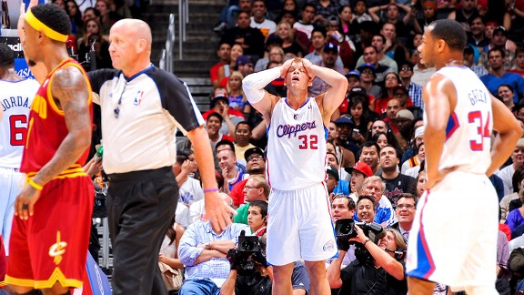 Blake Griffin and the Los Angeles Clippers against the Cleveland Cavaliers