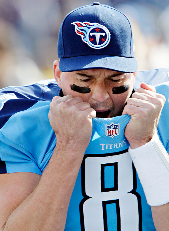 Matt Hasselbeck of the Tennesse Titans during a game against the Chicago Bears
