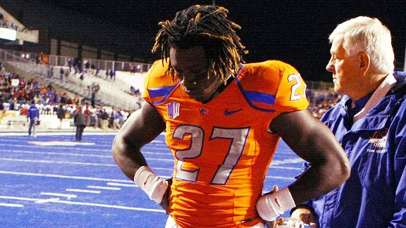 Boise State Broncos running back Jay Ajayi after a loss to San Diego State