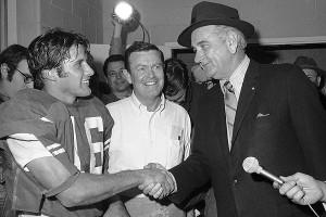 Darrell Royal and Lyndon B. Johnson