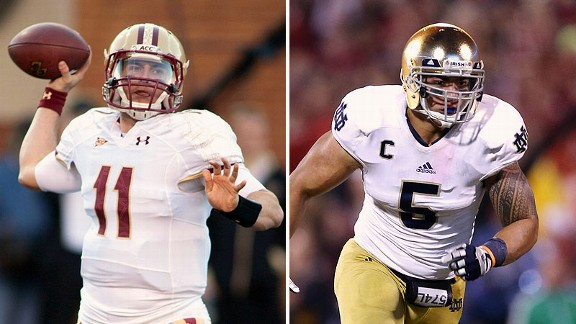 Chase Rettig and Manti Te'o