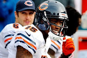 Chicago's Jay Cutler and Brandon Marshall