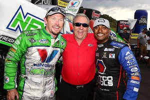 Jack Beckman, Don Schumacher, Antron Brown