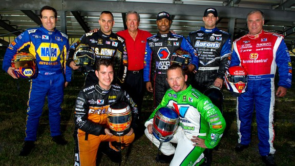 Spencer Massey, Jack Beckman, Ron Capps, Tony Schumacher, Don Schumacher, Antron Brown, Matt Hagan, Johnny Gray
