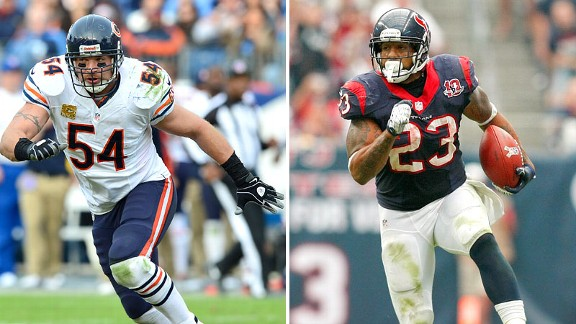 Brian Urlacher, Arian Foster