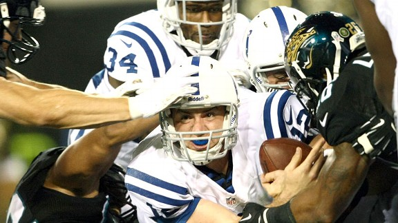 Andrew Luck during his game against the Jacksonville Jaguars