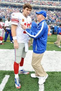Eli Manning and Tom Coughlin