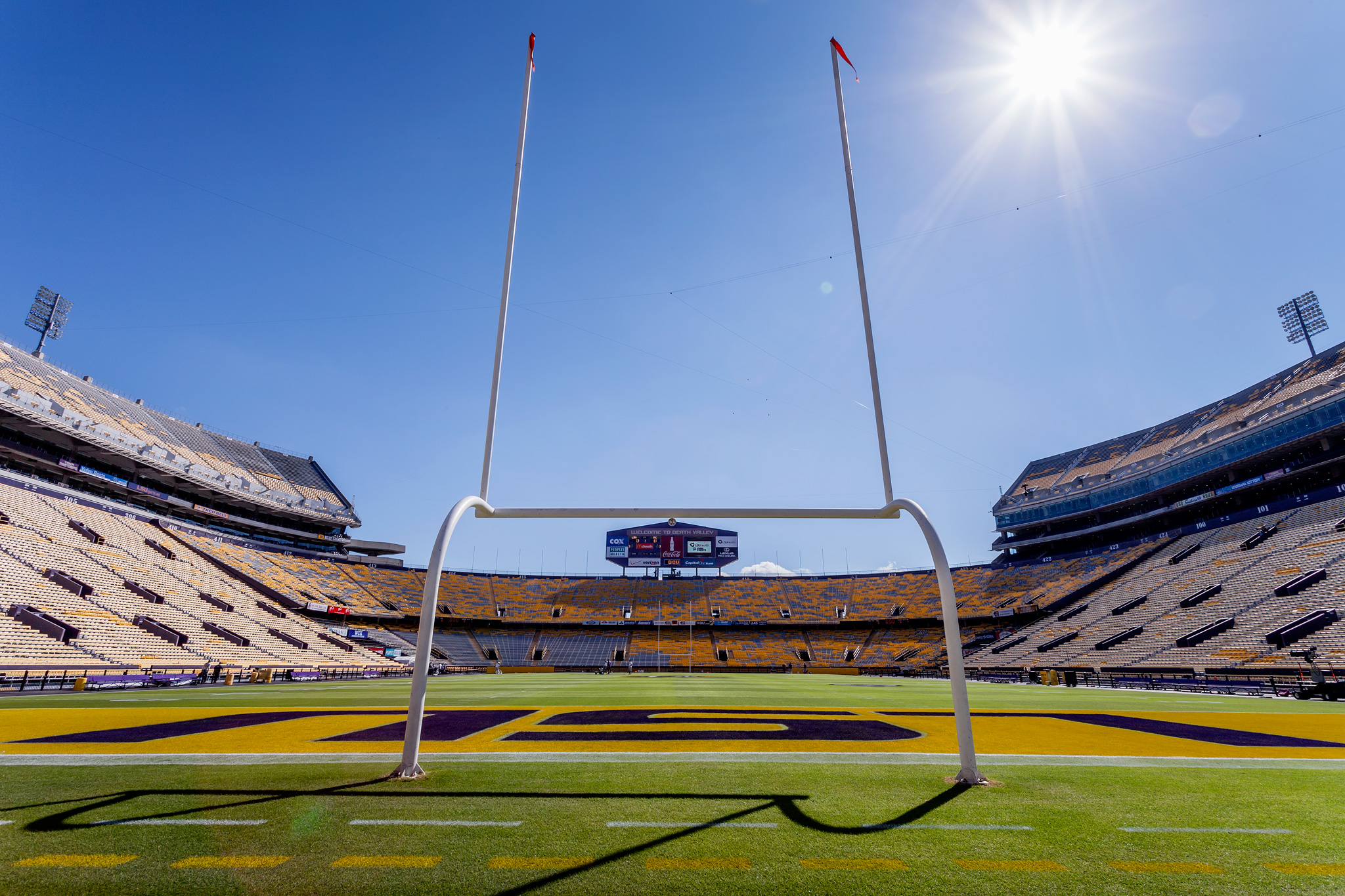 Goal posts at Tiger Stadium
