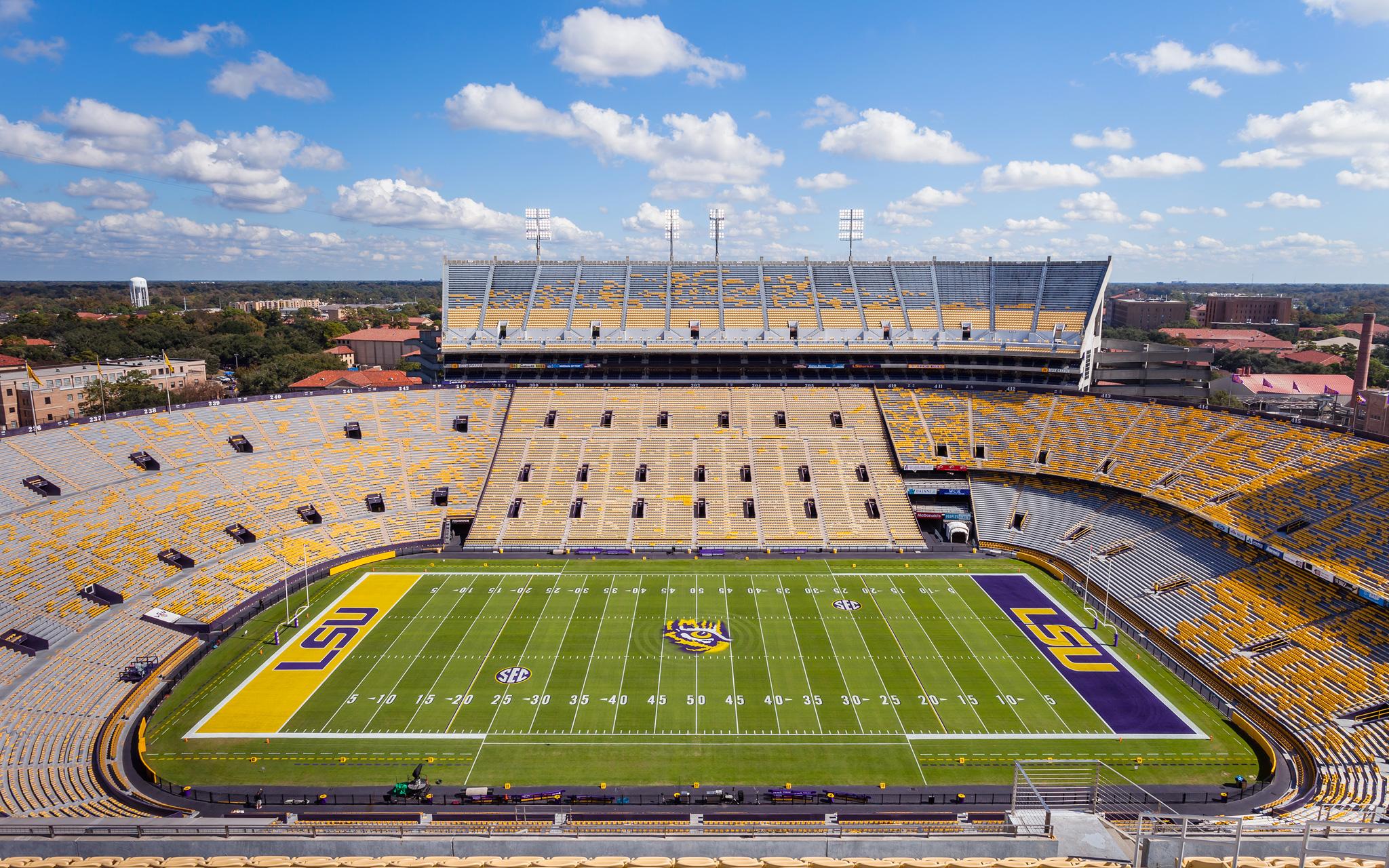 An empty Tiger Stadium