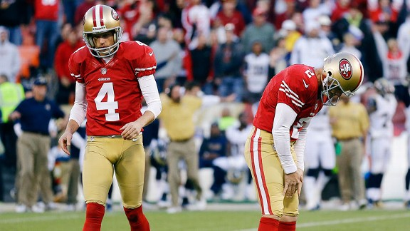 David Akers during the San Francisco 49ers' tie with the St. Louis Rams