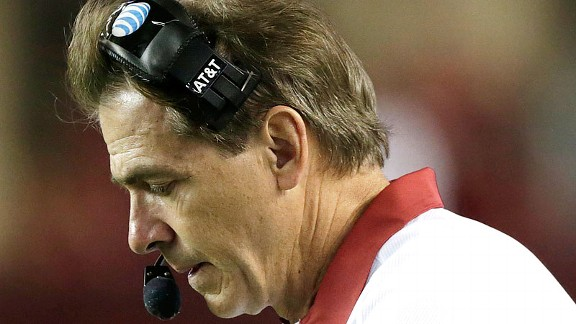 Nick Saban after Alabama lost to the Texas A&M Aggies