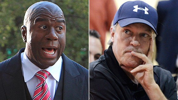 Magic Johnson and Jim Buss