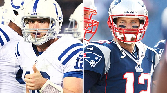 Andrew Luck and Tom Brady