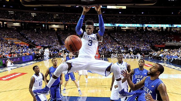 Nerlens Noel and the Kentucky Wildcats against the Duke Blue Devils