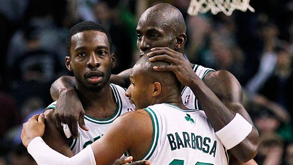 Jeff Green, Kevin Garnett, Leandro Barbosa