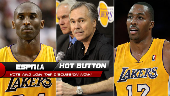Kobe Bryant, Mike D'Antoni, Dwight Howard