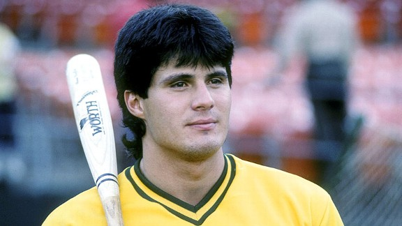 Jose Canseco in 1988 with the Oakland Athletics