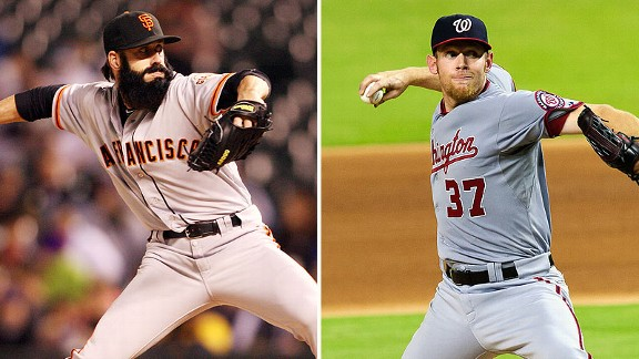 Brian Wilson and Stephen Strasburg
