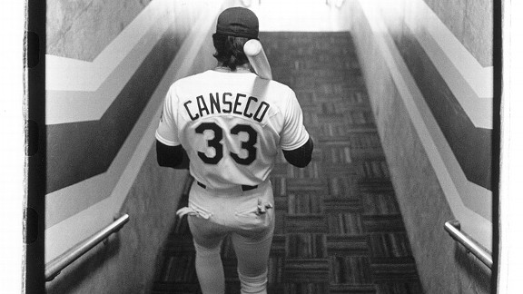 Jose Canseco in 1988 with the Oakland Athletics in the World Series