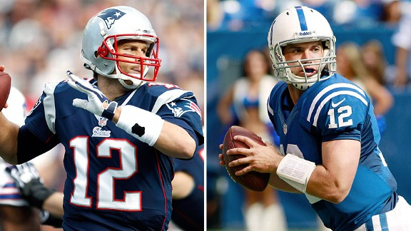 Tom Brady and Andrew Luck
