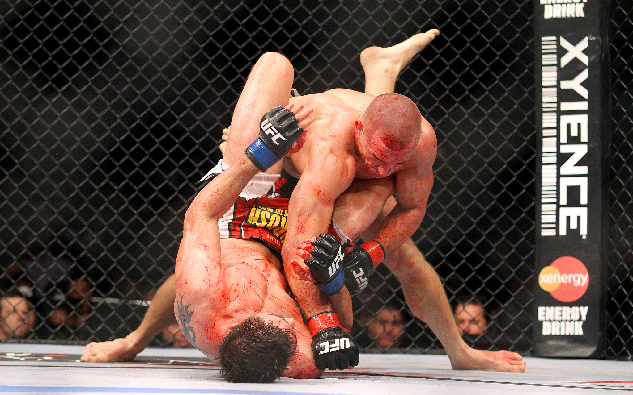 Georges St-Pierre and Carlos Condit
