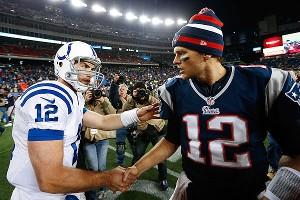 Andrew Luck, Tom Brady