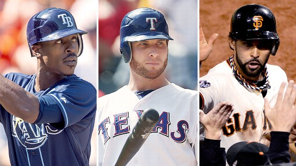 B.J. Upton/Josh Hamilton/Angel Pagan