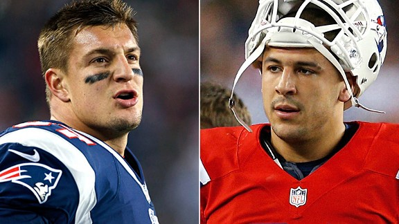 Rob Gronkowski and Aaron Hernandez