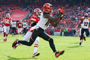 John Sleezer/Getty Images Cincinnati receiver A.J. Green has 95