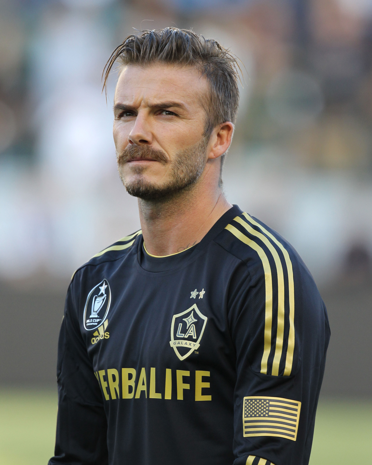 David Beckham LA Galaxy  Whisker Wars Rates Athlete - David Beckham Hairstyles