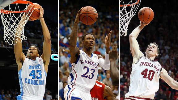 James Michael McAdoo, Ben McLemor and Cody Zeller