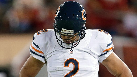 Jason Campbell and his Chicago bears losing to the San Francisco 49ers