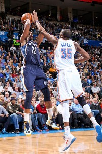 Kevin Durant and Rudy Gay