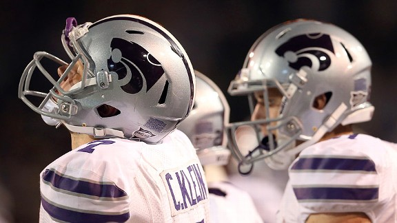 Collin Klein and the Kansas State Wildcats after their loss to the Baylor Bears