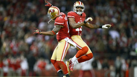 Kyle Williams and Michael Crabtree with the San Francisco 49ers